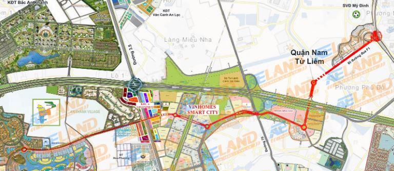 quy hoạch đường liên khu Mỹ Đình - KĐT Nam An Khánh