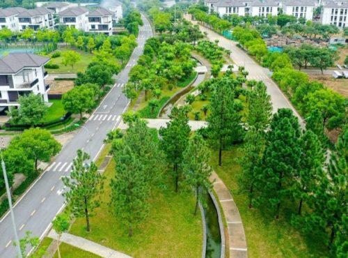 Công viên trung tâm khu đô thị Hado Charm Villa