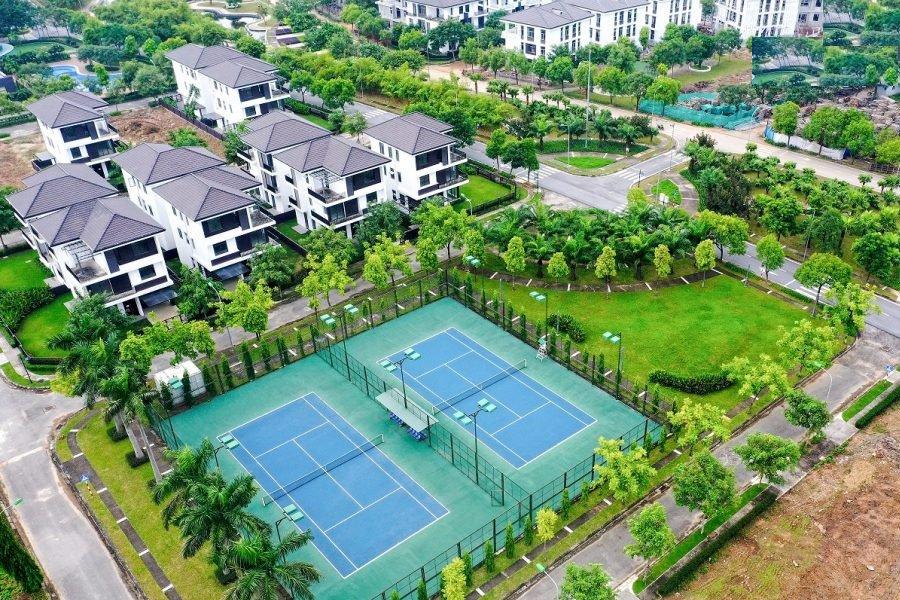 Sân Tenis khu biệt thự hà đô hoài đức