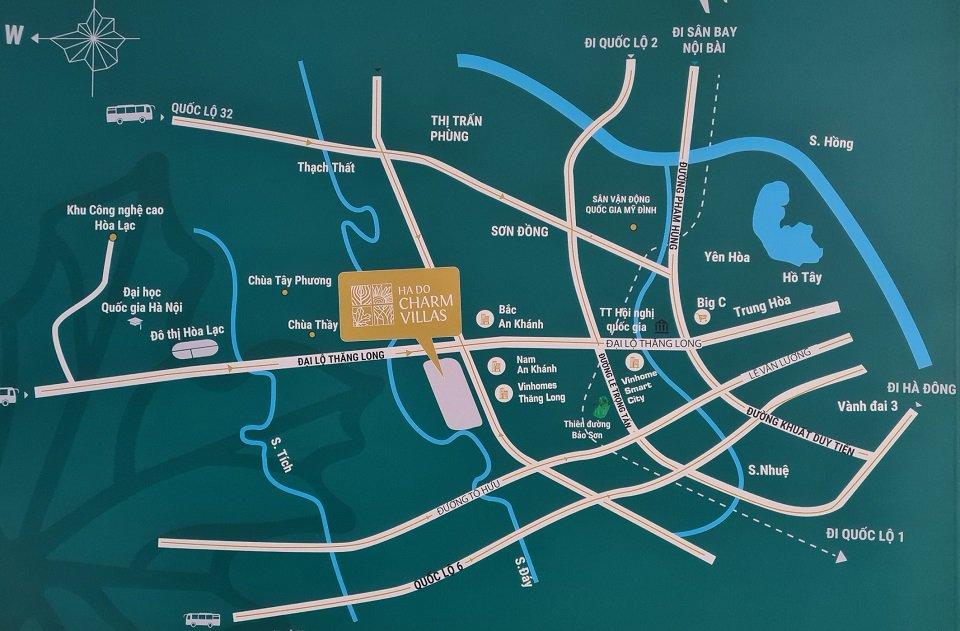 Vị trí dự án Hà Đô Charm Villa