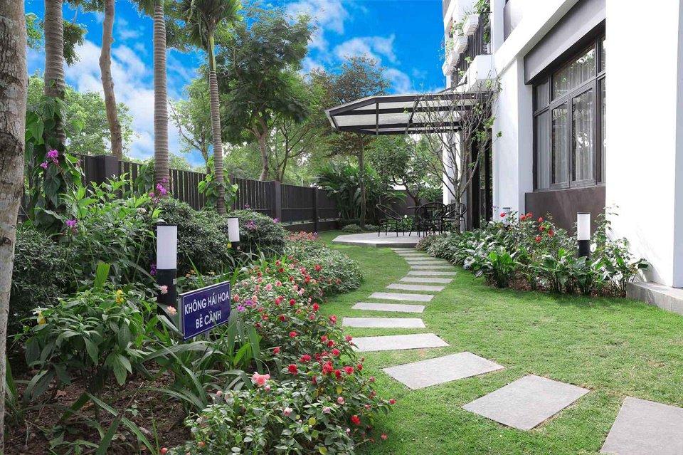 Cảnh quan sân vườn biệt thự hà đô charm