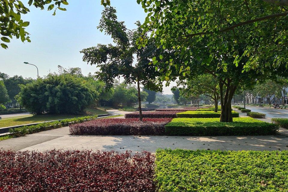 Công viên trung tâm Khu đô thị Hà Đô Charm